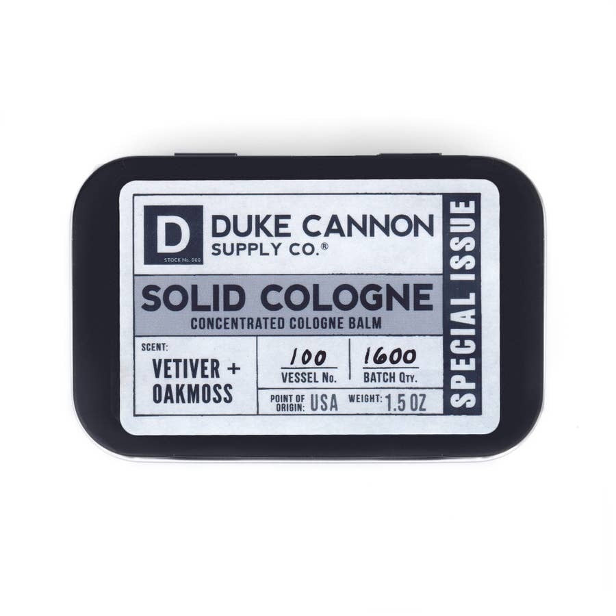 Duke Cannon Solid Cologne Vetiver + Oakmoss