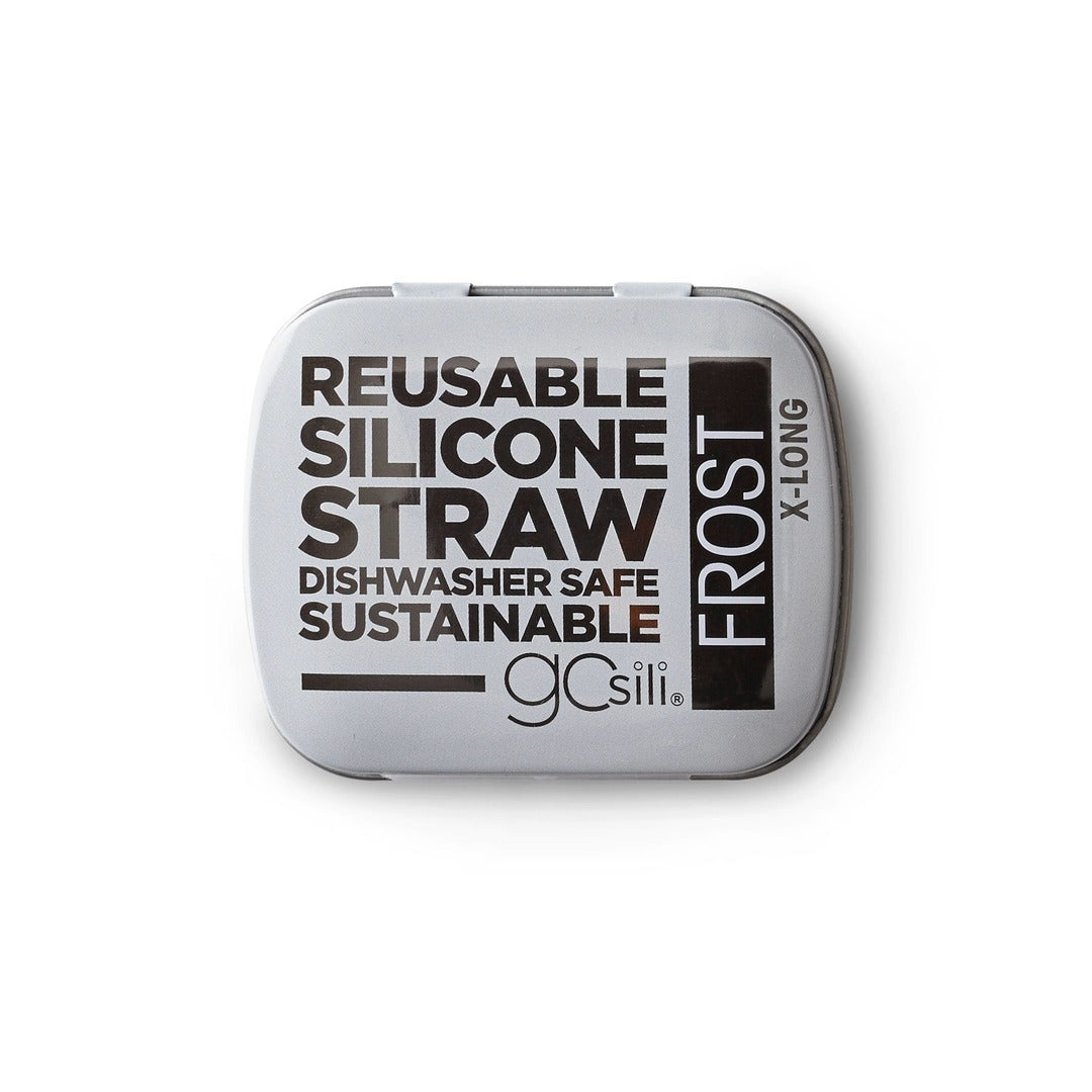 GoSili Extra Long Straw + Case