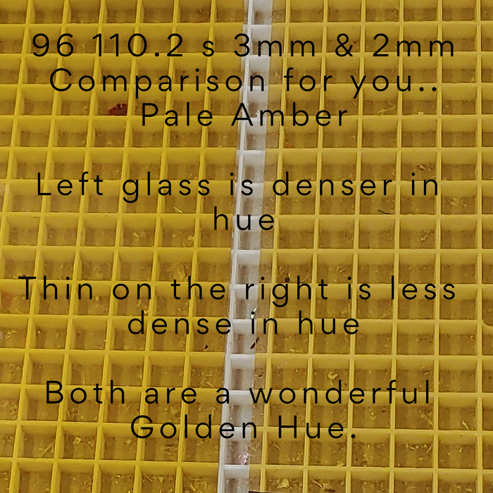 Pale Amber Transparent Gold Hue Thin smooth Coe96  Fusible Sheet Glass Oceanside Compatible Spectrum at www.happyglassartsupply.com Happy Glass Art Supply
