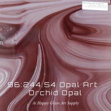 Load image into Gallery viewer, Orchid OpalArt™ Light Purple / Dark Purple Smooth Coe 96 OceanSide Compatible™ Sheet Glass at www.happyglassartsupply.com Happy Glass Art Supply