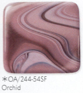 Orchid OpalArt™ Light Purple / Dark Purple Smooth Coe 96 OceanSide Compatible™ Sheet Glass at www.happyglassartsupply.com Happy Glass Art Supply