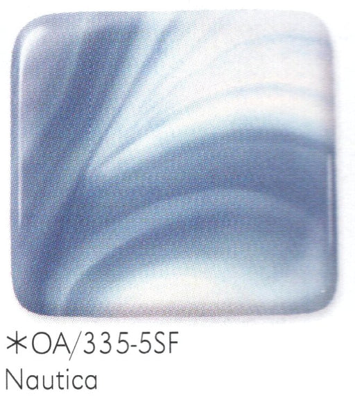 Nautica OpalArt™ Medium Blue Opalescent / Crystal Opal Smooth Coe 96 OceanSide Compatible™ Sheet Glass at www.happyglassartsupply.com