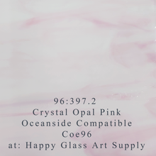 Load image into Gallery viewer, Crystal Opal Pink Wispy Compatible™ Sheet Glass