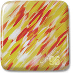 "Clear/Ivory/Sunflower/Red, ""Rio"" Spirit™ System96 Oceanside Compatible™ Sheet Glass at www.happyglassartsupply.com"