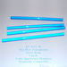 Sky Blue Transparent RT-5331-96 Glass Rods Coe96 Oceanside Compatible™ System 96® Glass Fusion Glass Fusing Warm Glass Rods for Beadwork Bead Making Mosaic dots Happy Glass Art Supply www.happyglassartsupply.com
