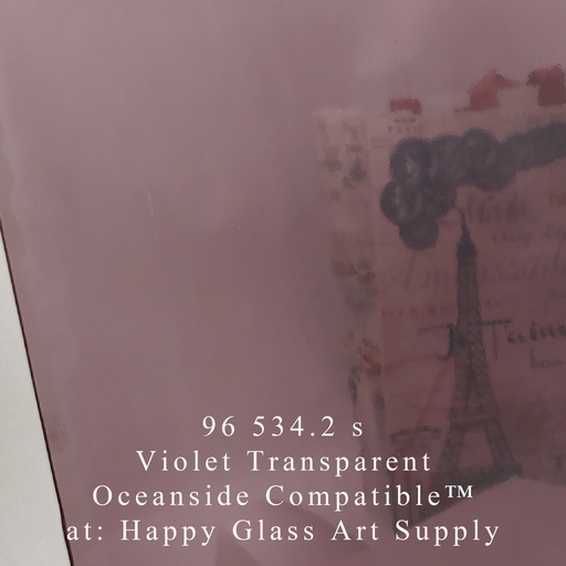 96 534.2 s Violet Smooth Transparent System96 Oceanside Compatible™ Sheet Glass Happy Glass Art Supply www.happyglassartsupply.com