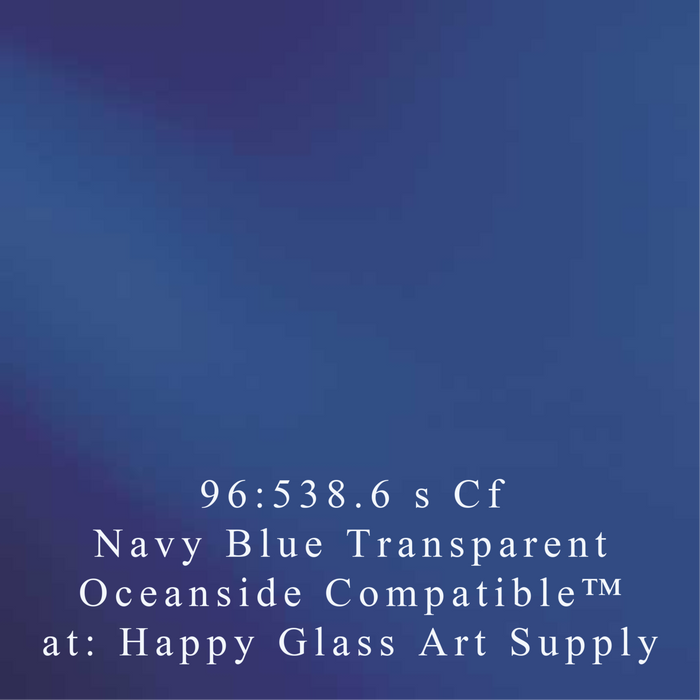 "Navy Blue Transparent Compatible™ Sheet Glass 11"" SQ"