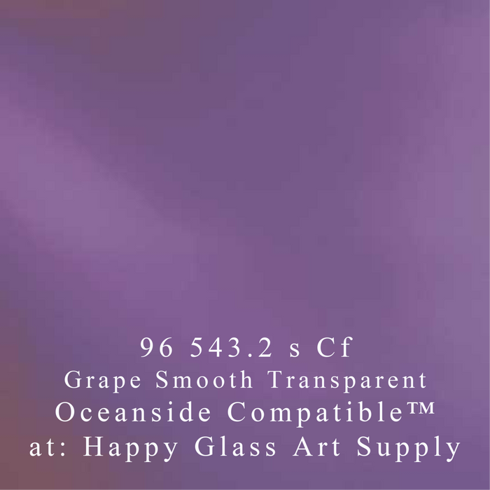 Grape Transparent Smooth System 96® Oceanside Compatible™ Fusible Sheet Glass at www.happyglassartsupply.com Happy Glass Art Supply