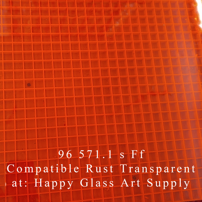 Rust Transparent System 96® Oceanside Compatible™ Fusible Sheet Glass at www.happyglassartsupply.com Happy Glass Art Supply