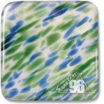 """Seattle"" Spirit™ Opal / Green / Blue Coe 96 System96 Oceanside Compatible™ Sheet Glass at www.happyglassartsupply.com"