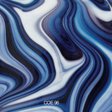 Load image into Gallery viewer, Blackberry Cream OpalArt™ Crystal Opal / Deep Aqua / Concord Smooth Coe 96 OceanSide Compatible™ Sheet Glass at www.happyglassartsupply.com