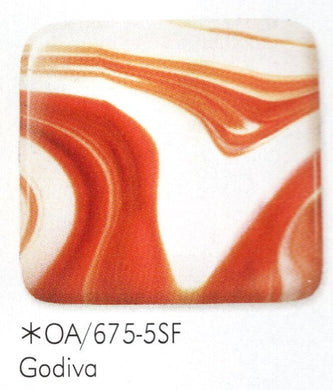 Godiva OpalArt™ Red / Orange / White Smooth Coe 96 OceanSide Compatible™ Sheet Glass at www.happyglassartsupply.com
