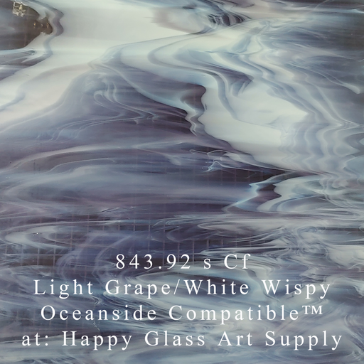 843.92 s Cf Light Grape/White Wispy Oceanside Compatible™ at: Happy Glass Art Supply