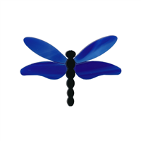 Dragonfly Small Blue Wings PreCut System 96® Happy Glass Art Supply www.happyglassartsupply.com
