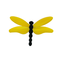 Dragonfly Small Yellow Wings PreCut System 96® at Happy Glass Art Supply www.happyglassartsupply.com