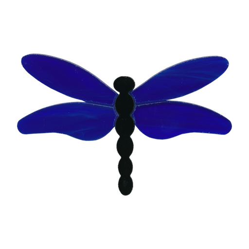 Dragonfly Large Blue Wings PreCut System 96® Happy Glass Art Supply www.happyglassartsupply.com
