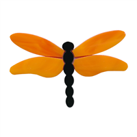 Dragonfly Large Orange Wings PreCut System 96® Happy Glass Art Supply www.happyglassartsupply.com