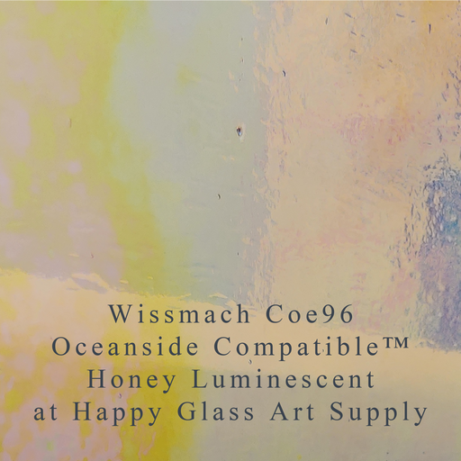 Honey Transparent Luminescent iridescent 3mm Wissmach Coe96 Fusible Sheet Glass Happy Glass Art Supply www.happyglassartsupply.com