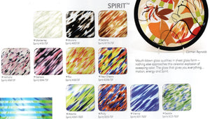 """Murano"" Spirit™ Clear / Ivory / Black Coe 96 System96 Oceanside Compatible™ Sheet Glass at www.happyglassartsupply.com"