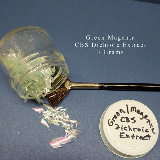 Green Magenta CBS Dichroic Extract for all Coe of glass fusing Happy Glass Art Supply www.happyglassartsupply.com