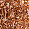 Chestnut Brown Opal System96 Coarse Frit fusible glass frit Oceanside Compatible System96 Coe96 at www.happyglassartsupply.com
