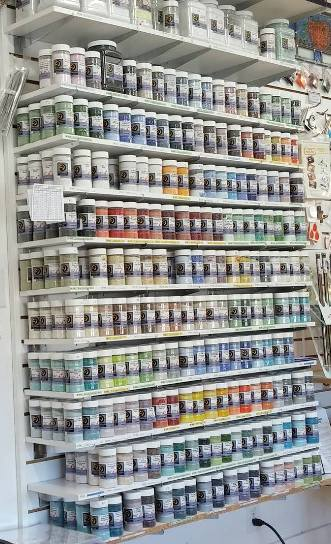 Pewter Opal Opalescent System96 Oceanside Compatible™ Coe96 Fusible Glass Medium Frit Happy Glass Art Supply www.happyglassartsupply.com