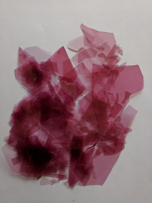 Cranberry Pink Transparent Confetti, Bullseye Compatible 1 oz coe90 at www.happyglassartsupply.com