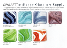 Load image into Gallery viewer, Sour Apple OpalArt™ Green Opalescent / Crystal Opal Smooth Coe 96 OceanSide Compatible™ Sheet Glass at www.happyglassartsupply.com Happy Glass Art Supply