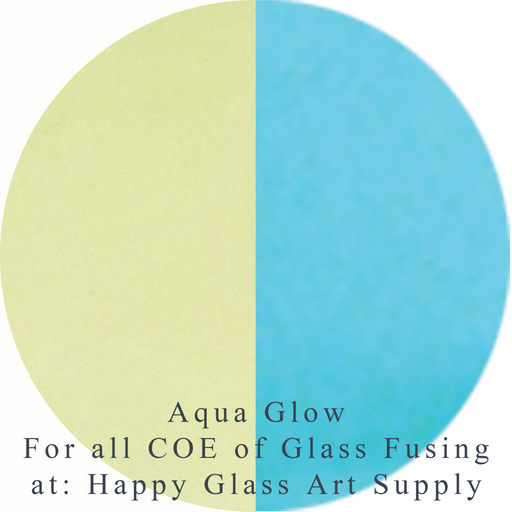 Aqua Glow for all COE Fusible at www.happyglassartsupply.com Happy Glass Art Supply