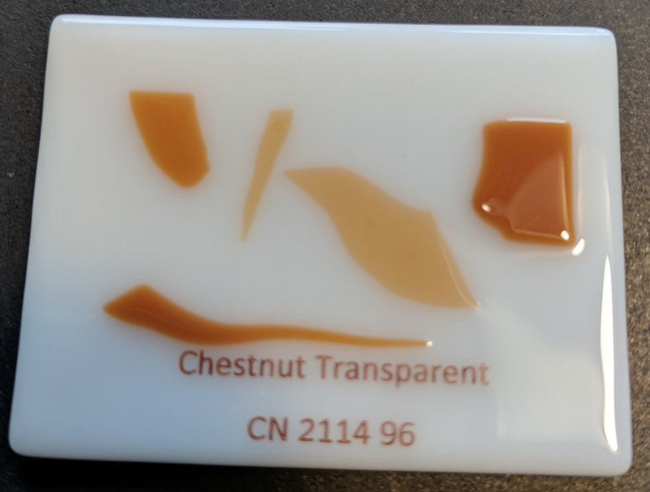 Chestnut Brown Transparent System96 Confetti Oceanside Compatible at www.happyglassartsupply.com