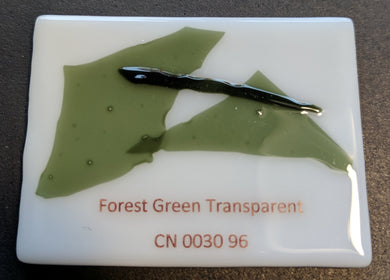 Forest Green Transparent System96 Confetti Oceanside Compatible at www.happyglassartsupply.com