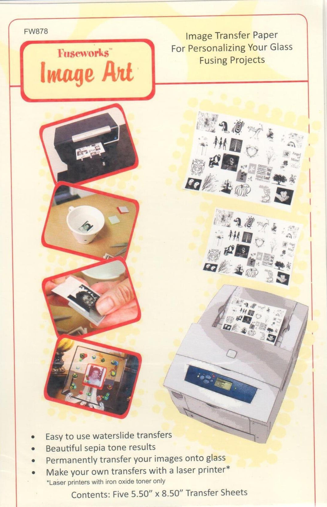 Diamond Tech Fuseworks Image Transfer Paper Fusible Paper at www.happyglassartsupply.com