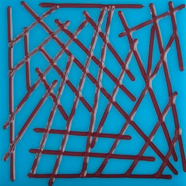 Red Reactive Transparent - System96 Stringers Coe 96 fusible glass oceanside compatible at www.happyglassartsupply.com