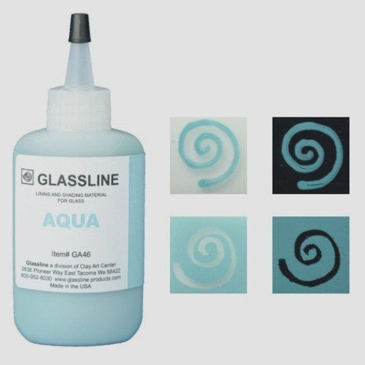 Aqua - Glassline Fusing Paint GA 46 available at www.happyglassartsupply.com