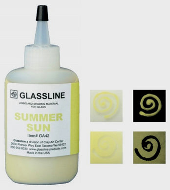 Summer Sun Glassline Fusing Paint Pen GA 42 at www.happyglassartsupply.com  Oceanside glass amazon aae delphi