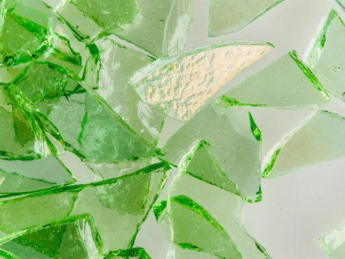 Citron Green Transparent Iridescent - System96 Mosaic Frit Oceanside Compatible at www.happyglassartsupply.com