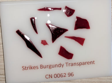 Strikes Burgundy Transparent System96 Confetti - 1 ounce