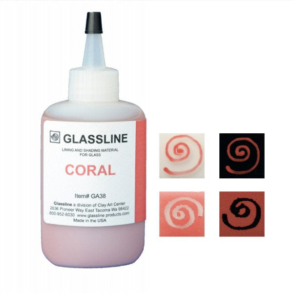 Coral - Glassline Fusing Paint Pen GA 38 at www.happyglassartsupply.com