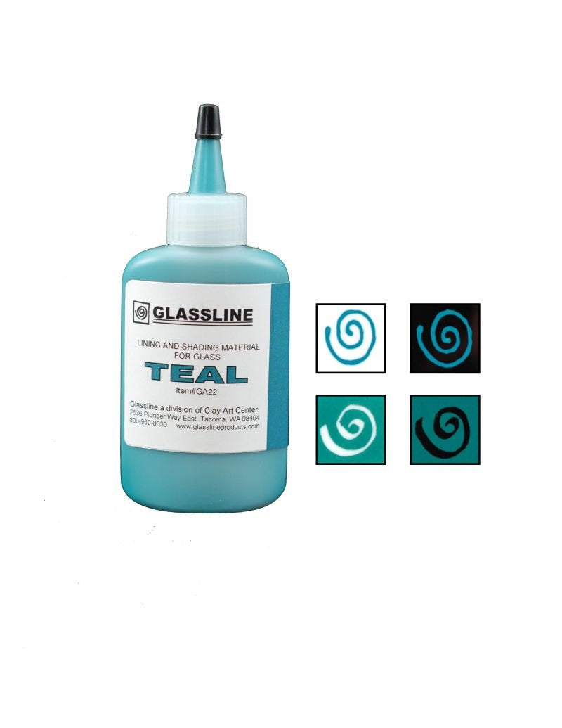 Teal Glassline Fusing Paint Pen GA 22 at www.happyglassartsupply.com  Oceanside glass amazon aae delphi