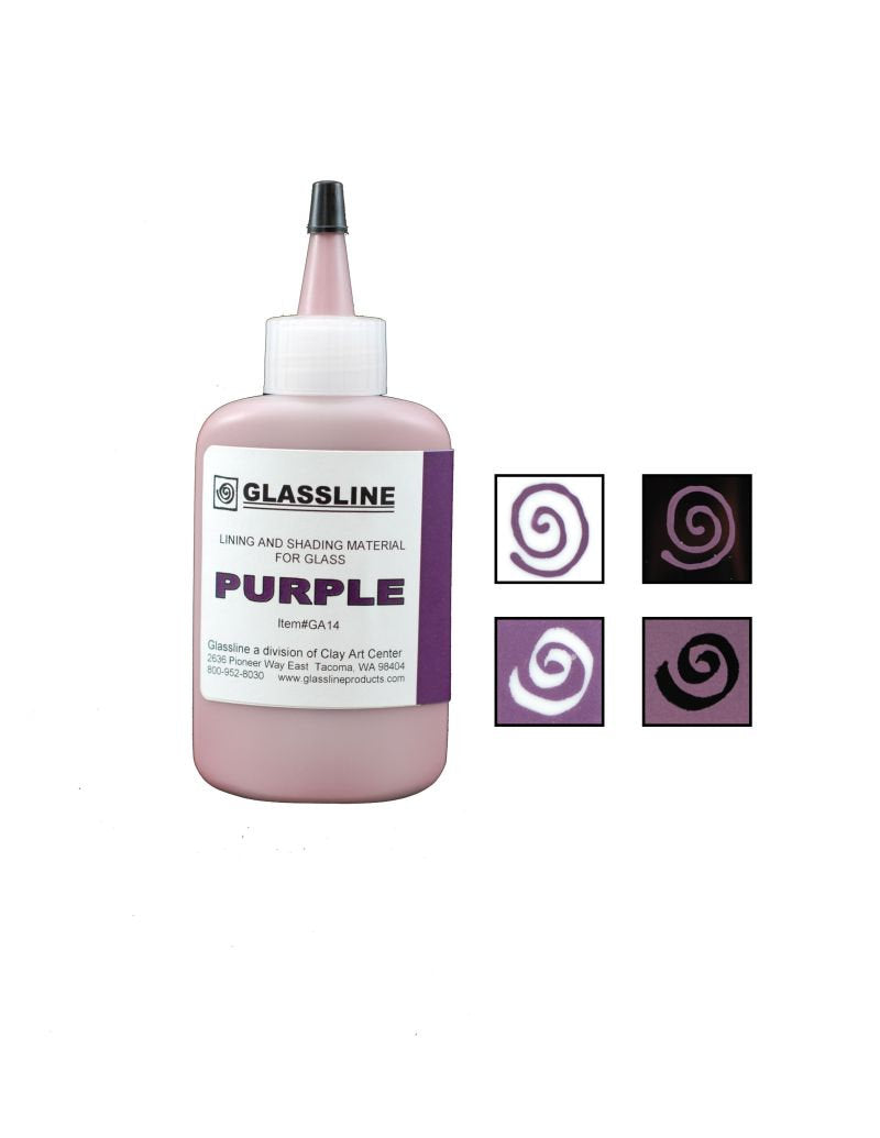 Purple Glassline Fusing Paint Pen GA 14 at www.happyglassartsupply.com