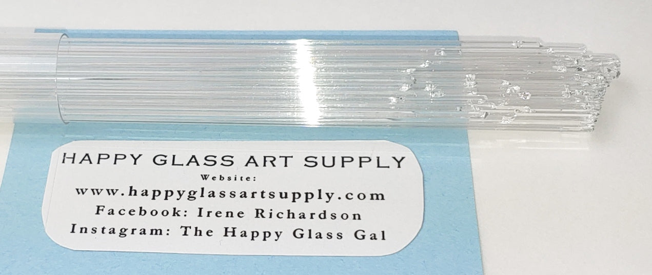 Clear Transparent System96 Oceanside Compatible™ Glass Stringers at www.happyglassartsupply.com Happy Glass Art Supply