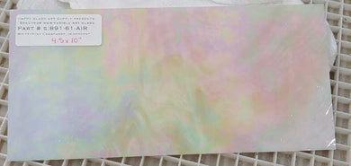 White / Pink Champagne Iridescent Semi-Translucent Wispy Stained Glass