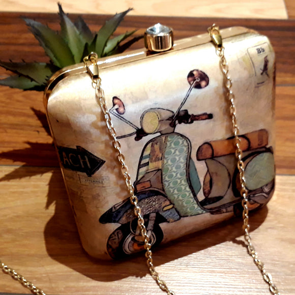 Printed Clutch - Scooter