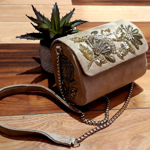 Flap Clutch - Beige