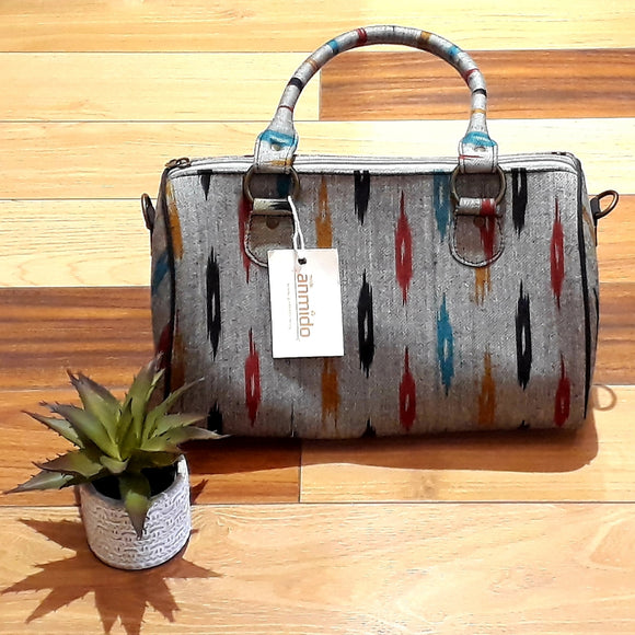 Duffle Bag Ikat Grey