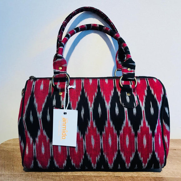 Duffle Bag Ikat red and black