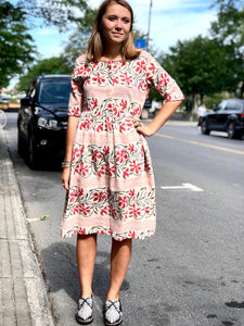 Floral prints Earth dress