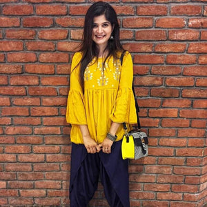 Embroidered top - Yellow