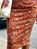 Kalamkari Printed Pencil Skirt