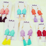 Buddha tassel earrings
